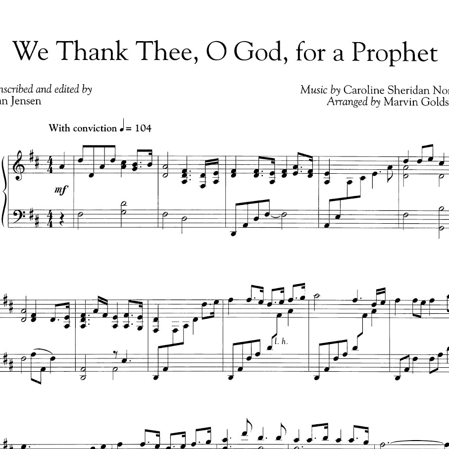 We Thank Thee O God For A Prophet From A Musical Companion