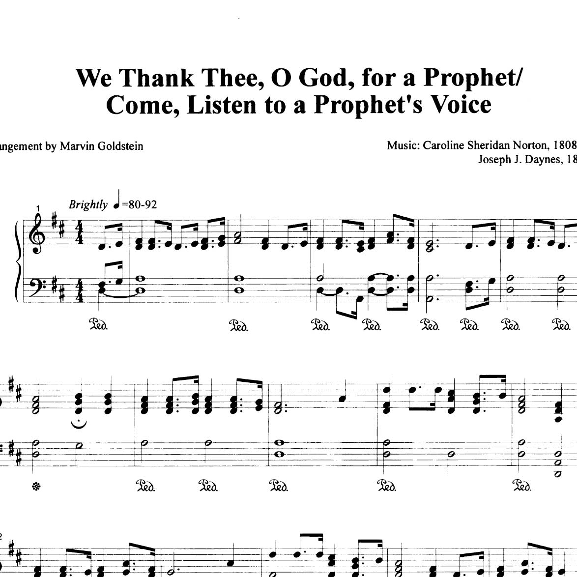 We Thank Thee O God For A Prophet Come Listen To A Prophets Voice